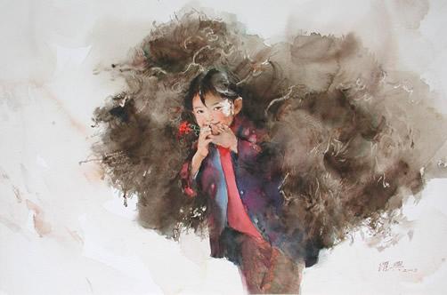 水墨佳作欣赏 - 艺术人生 - 让生命如花儿绽放